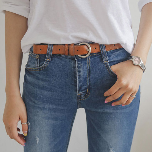 <br> 7DA12499CC_Silver Buckle Collar Belt